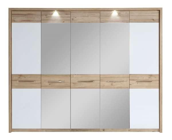 Drehtürenschrank CARTAGO 32, Eiche,weiß, 261x220x63 cm