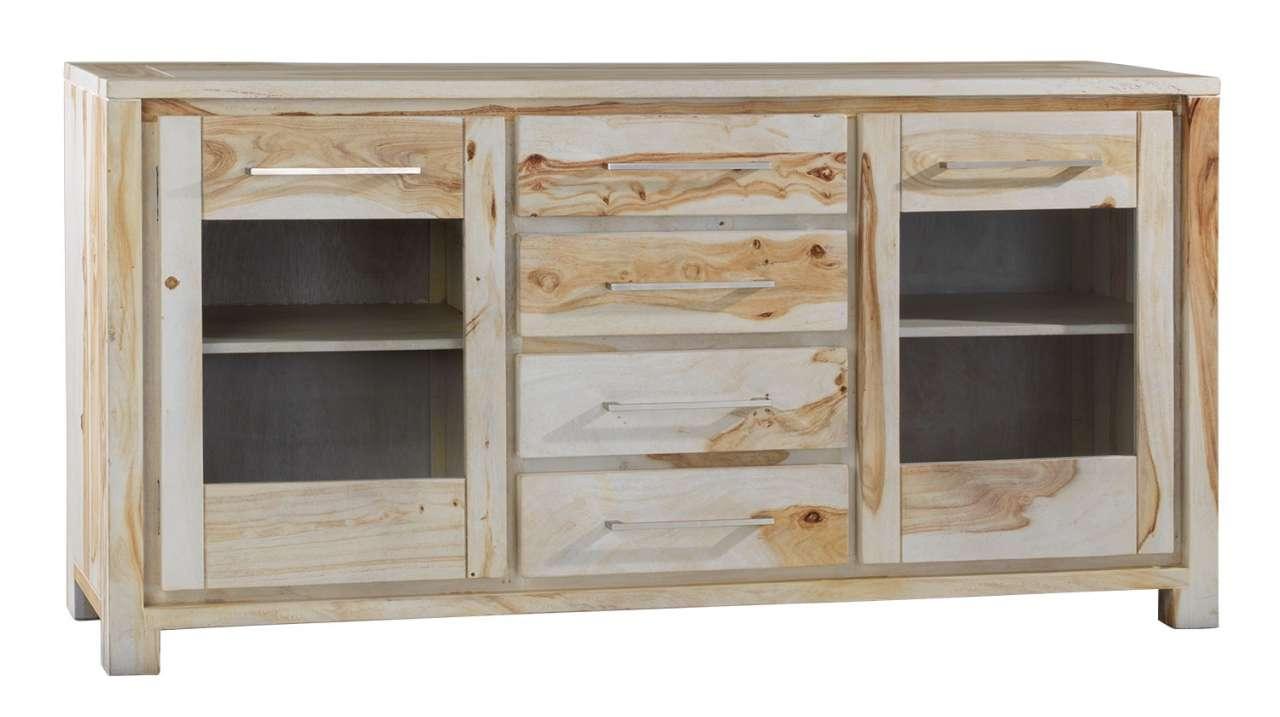 Sideboard aus Shisham Holz teilmassiv mit viel Stauraum   Möbel ...
