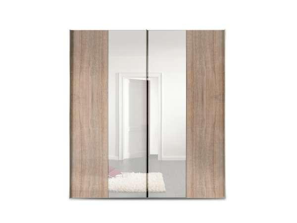 Schwebetürenschrank VICTOR 2, Eiche Sonoma, mit Spiegel