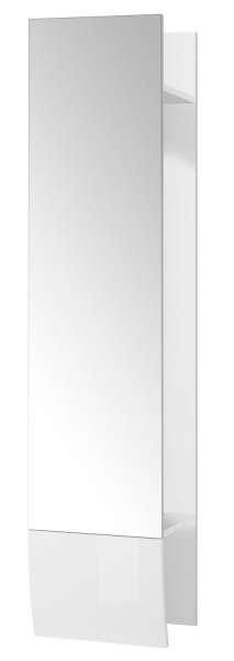 Garderobenpaneel Wandgarderobe, Weiß-Weiß Hochglanz