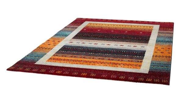 Teppich ETHNO 3, B 80 x L 150 cm, Rot-Blau, Ethnomuster