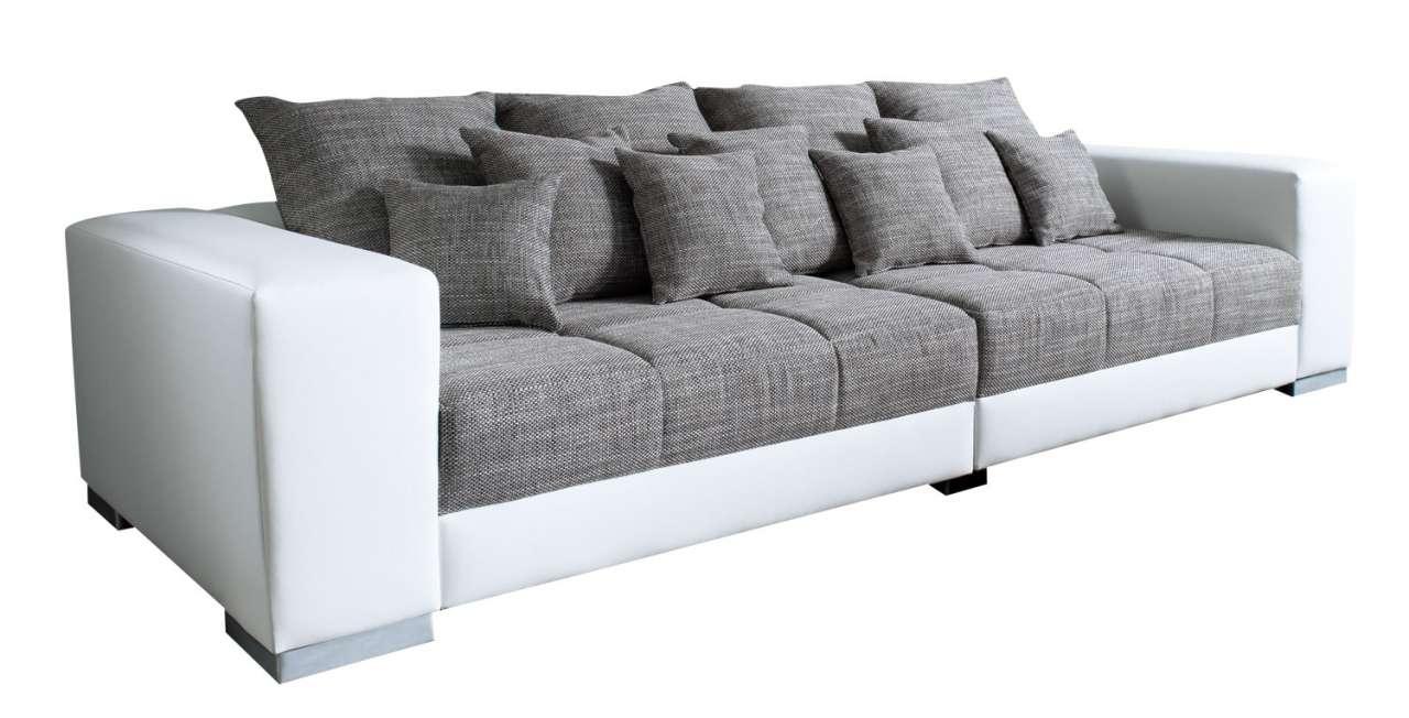 moebel-jack.de XXL Sofa ADONIS, Webstoff Dunkelgrau