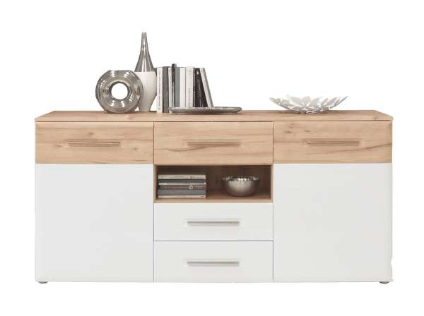 Sideboard CARTAGO 10, weiß hochglanz, 180x86x41 cm