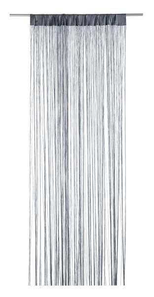 Vorhang Fädenvorhang, Grau Polyester, B 110 x L 250 cm