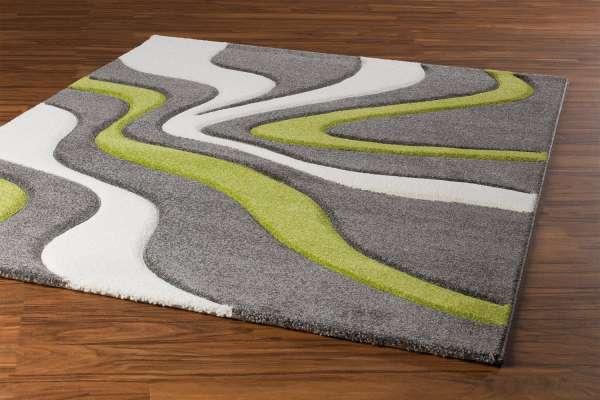 Teppich DIAMOND 13, Grün-Weiß, 80x150 cm