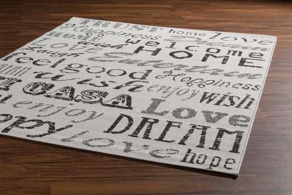 Teppich METROPOLITAN 21, Weiß-Grau, 160x230 cm