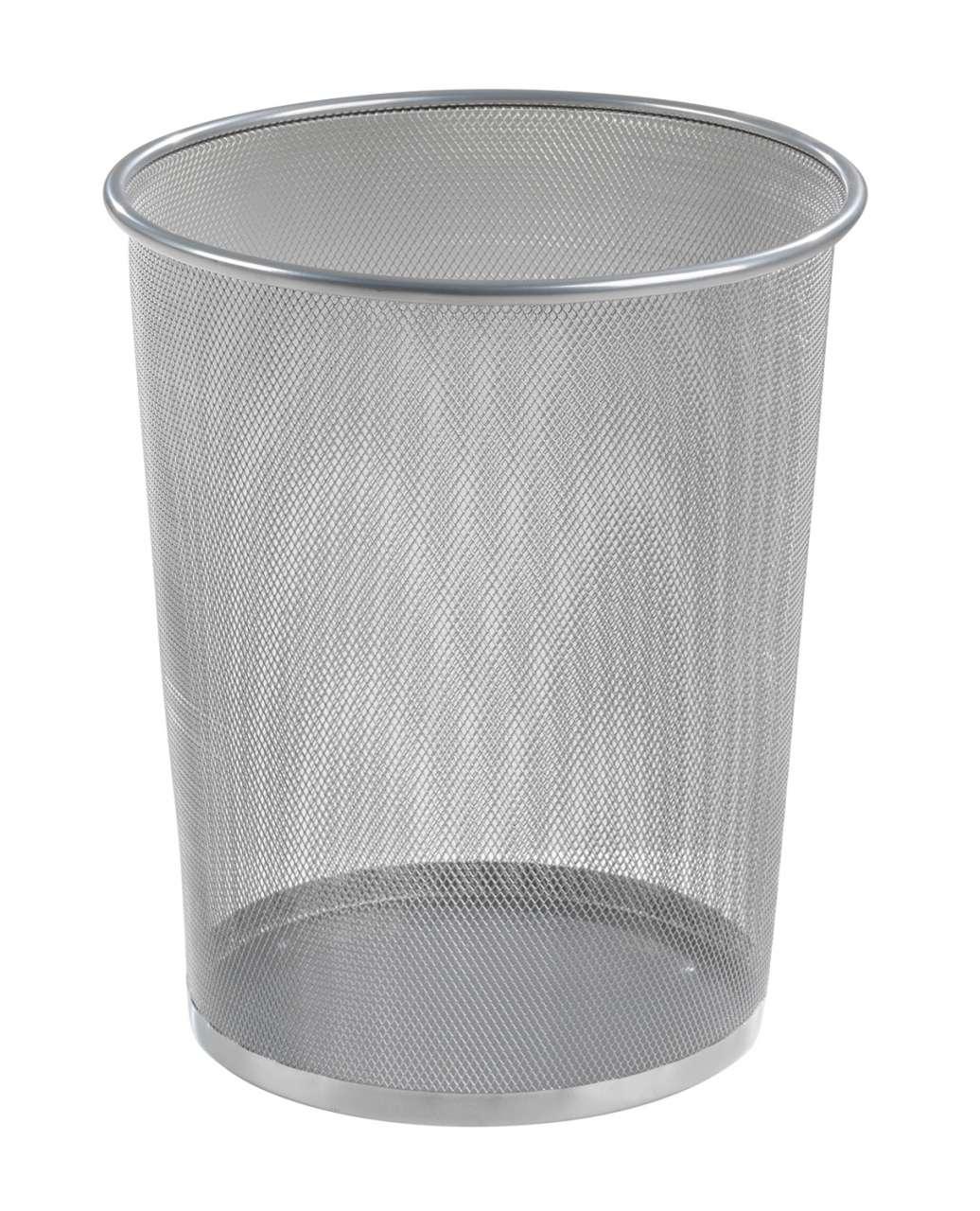 moebel-jack.de Papierkorb Mülleimer JACOB, Metallgeflecht Silber, Höhe 35,5, 10 Liter