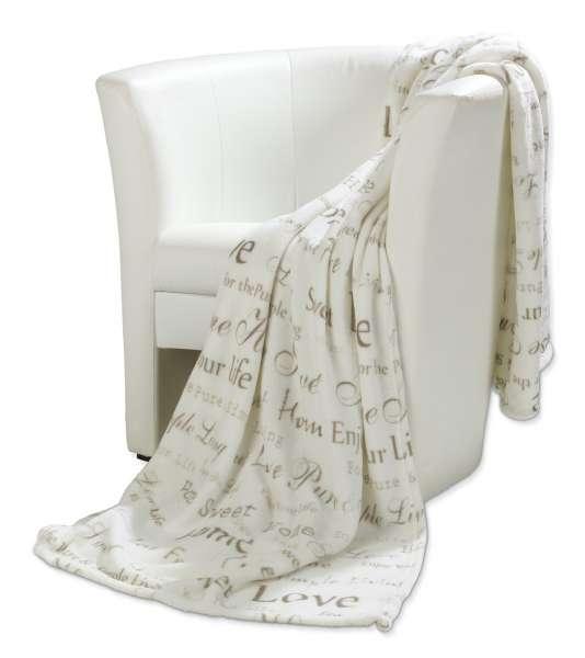 Fleecedecke VITTORIO 18, Weiß, 150x200 cm