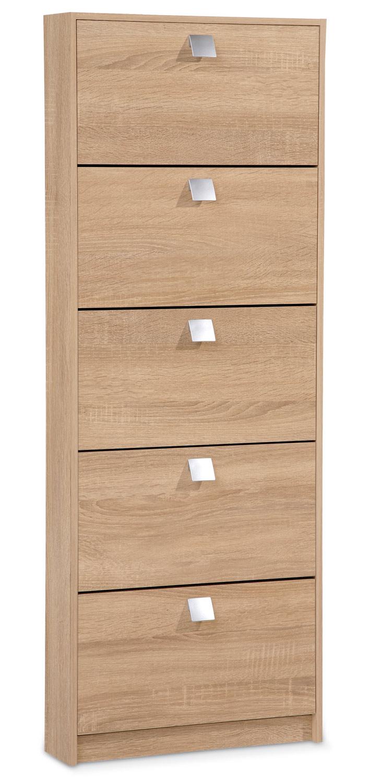 schmaler schuhschrank in eichedekor s gerau mit 5 klappen nuri 3 m bel jack. Black Bedroom Furniture Sets. Home Design Ideas