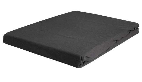 Boxspring-Spannbettlaken Spannbetttuch BOXXY 3, 140x200 cm, Grau, Elastic Jersey