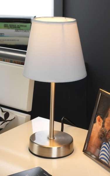 Tischleuchte PALMIRA 1, H 25 cm, Weiß, ohne Leuchtmittel