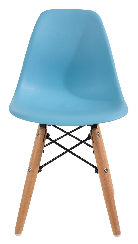 Kinderstuhl FINJAS, Buche, blau, Sitzhöhe 33 cm