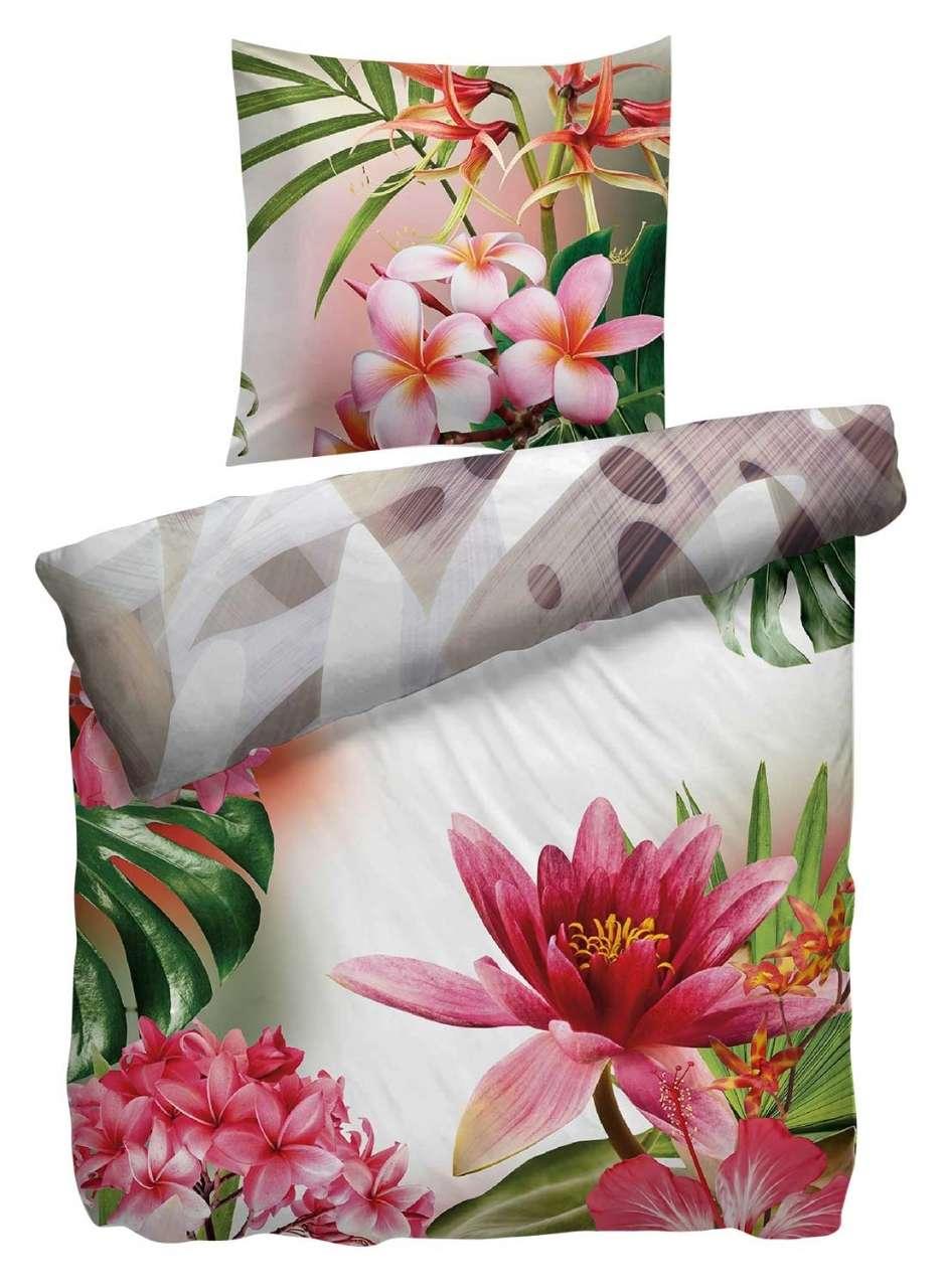 moebel-jack.de Bettwäsche Bettbezug LEILA, B 135 x L 200 cm, mit Blumen & Blätter