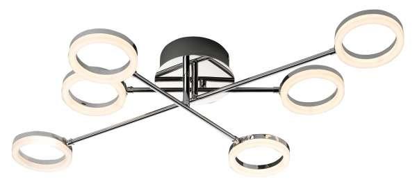 Lampe Deckenleuchte OLYMP, Silber-Chromfarben, inkl. Leuchtmittel