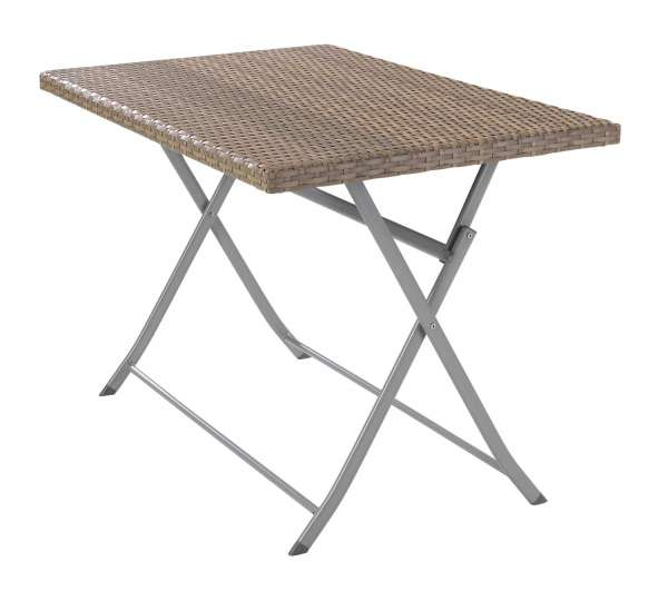 Tisch Gartentisch Klapptisch ARVID 1, B 110 x T 70 cm, Braun klappbar