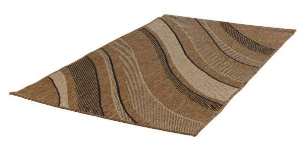 In- und Outdoorteppich DECORA Welle beige, 60x110 cm