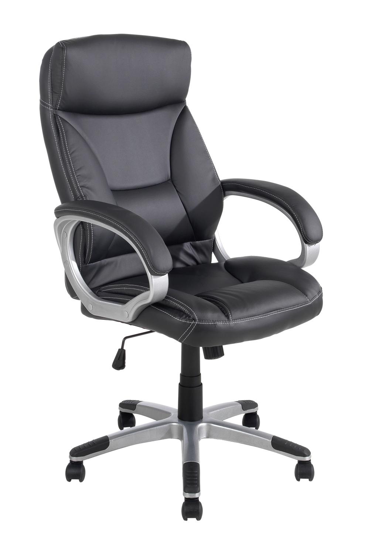 b rostuhl fitz ergonomisch aus schwarzem kunstleder mit armlehnen m bel jack. Black Bedroom Furniture Sets. Home Design Ideas