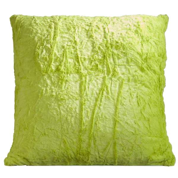 Kissen B 66 X H 66 Cm Grün Felloptik