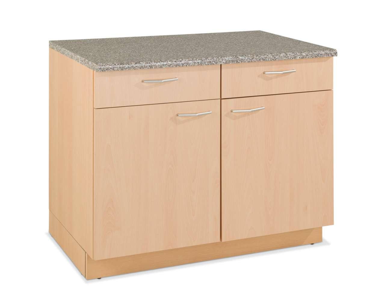 Küchenschrank TOMMI 6 in Buche hell Nachbildung, 2 Schublade, 2 ... | {Küchen unterschrank schubladen 58}