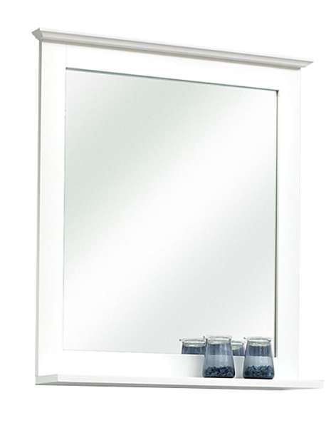 Spiegel Badezimmerspiegel JESSOLO 1, B 60 cm, Weiß matt, mit Ablage