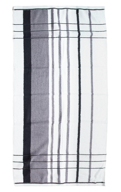 Duschtuch  ERDA 14, Anthrazit/Schwarz, 70x140 cm