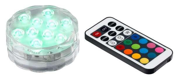 LED-Teelicht Bunt, Kunststoff, Farbwechsler, inkl. Fernbedienung