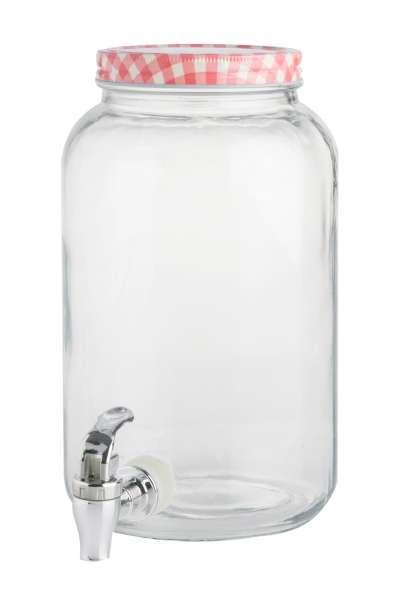 Getränkespender, rot, 3,5 Liter mit Zapfhahn