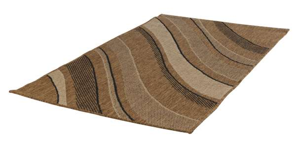 In- und Outdoorteppich DECORA Welle beige, 80x150 cm