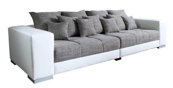 Grau Weißes Sofa big-sofa aus kunstleder/webstoff in weiß/grau adonis | möbel jack
