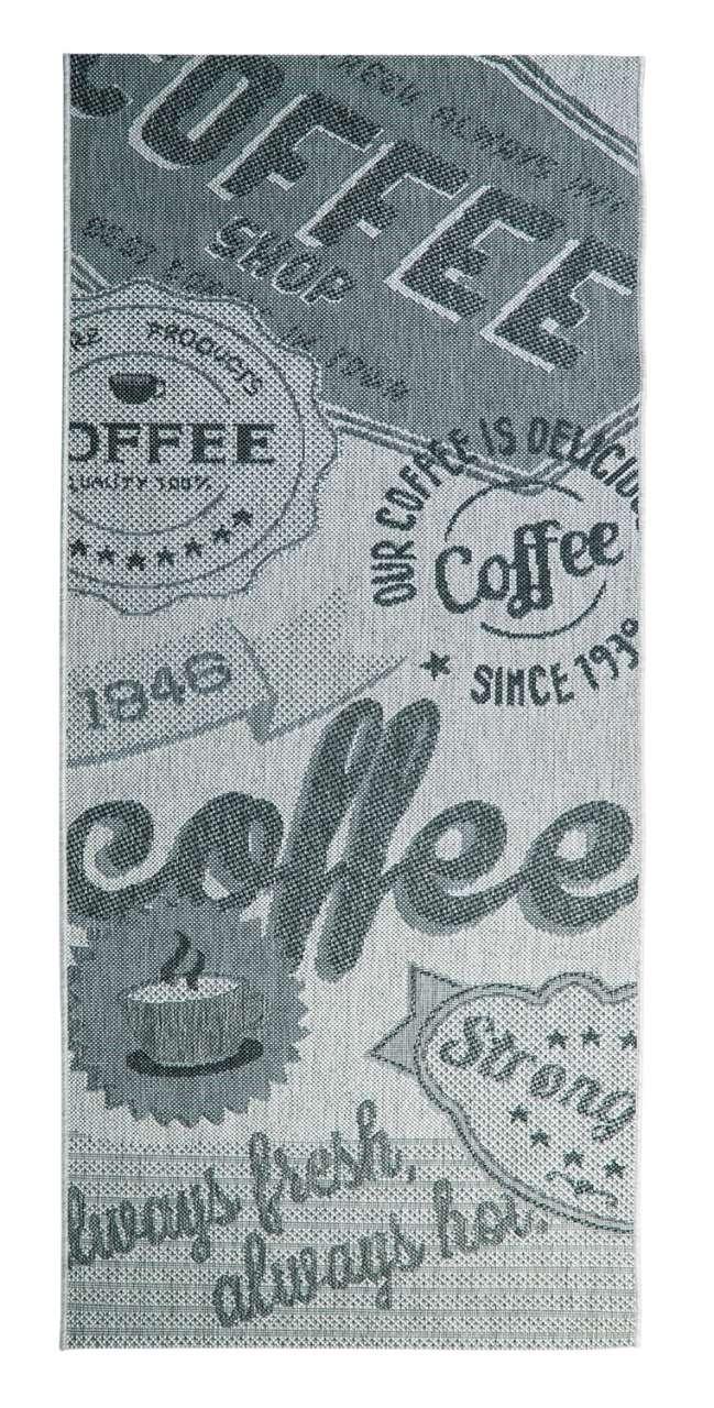 moebel-jack.de Outdoorteppich COFFEE grau, UV-beständig, wasserabweisend, 80x200 cm