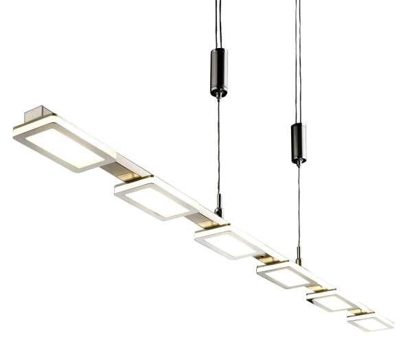 LED-Lampe Pendelleuchte Hängelampe SWIPE, Grau, Metall, dimmbar