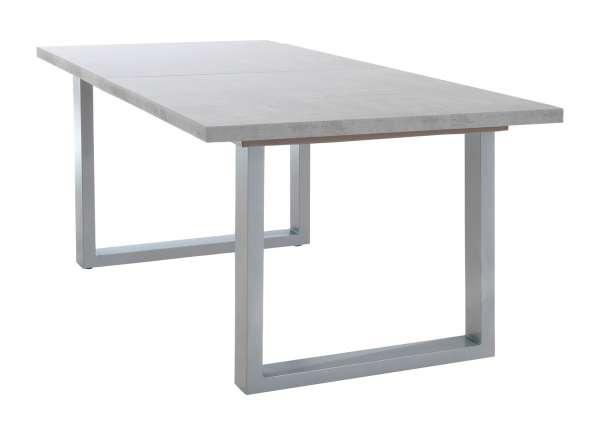 Esstisch INGMAR, B 160 x T 220 cm, Betonoptik, Holz, ausziehbar
