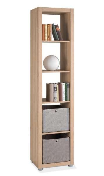 b cherregal in eichedekor s gerau mit viel stauraum domestic 6 m bel jack. Black Bedroom Furniture Sets. Home Design Ideas