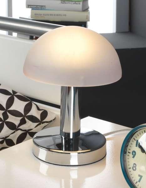 Tischlampe Tischleuchte CHRISTEL 2, Purple Nickel, Touch-Funktion