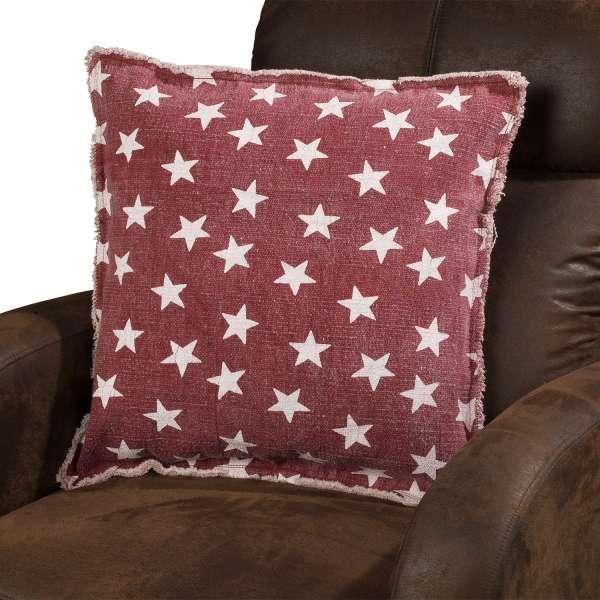 Kissenhülle Rot mit weißen Sternchen, 50x50 cm