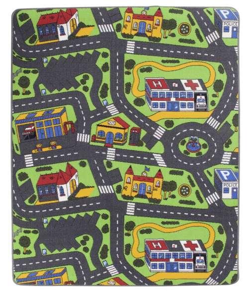 Kinder-Straßenteppich, Kinderteppich STANEK, B 133 x L 165 cm, Mehrfarbig