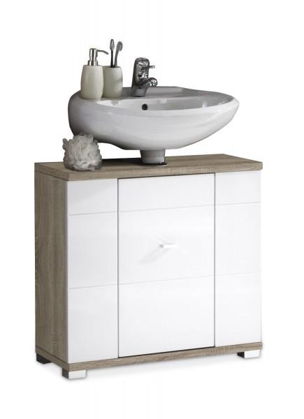Waschbeckenunterschrank CALISTA 11, Hochglanz Weiß