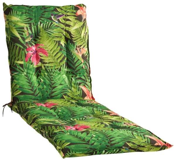 Liegenauflage Sitzpolster Gartenliegenauflage Mehrfarbig, Dschungelmuster