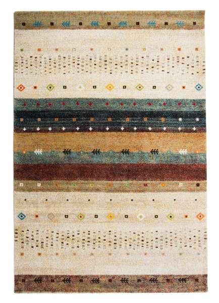 Teppich ETHNO 1, B 160 x L 230 cm, Creme-Rot, Ethnomuster