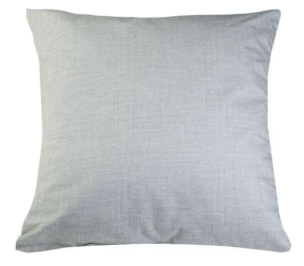 Kissen Sofakissen Dekokissen, Silberfarben, 66 x 66 cm, mit Reißverschluss