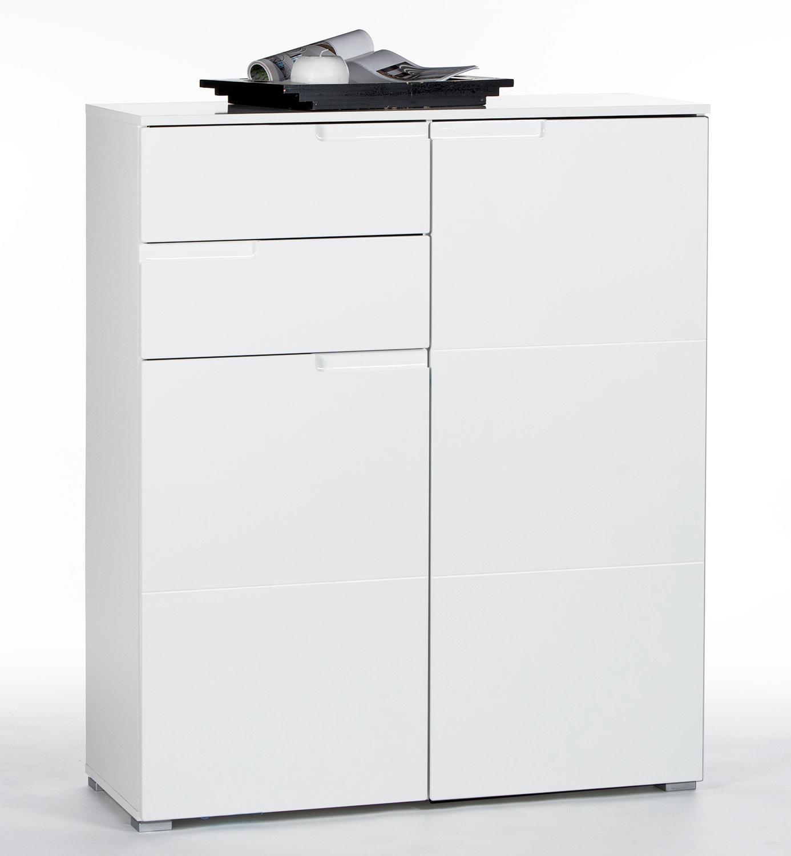 Kommode SABIA 1, weiß hochglanz, 100x119x40 cm