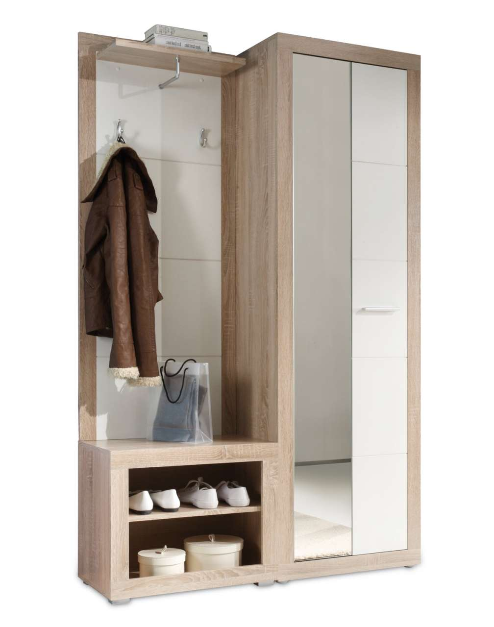 moebel-jack.de Garderobe CLAUDINE, Hochglanz Weiß