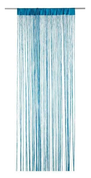 Vorhang Fädenvorhang, Türkis Polyester, B 110 x L 250 cm