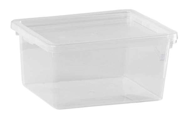 aufbewahrungsbox mit deckel aus plastik transparent caesar 3 m bel jack. Black Bedroom Furniture Sets. Home Design Ideas