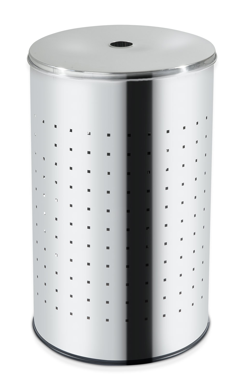 Wäschetonne BARREL 1, Edelstahl, glänzend, ca. 54 Liter, 57,5 cm hoch