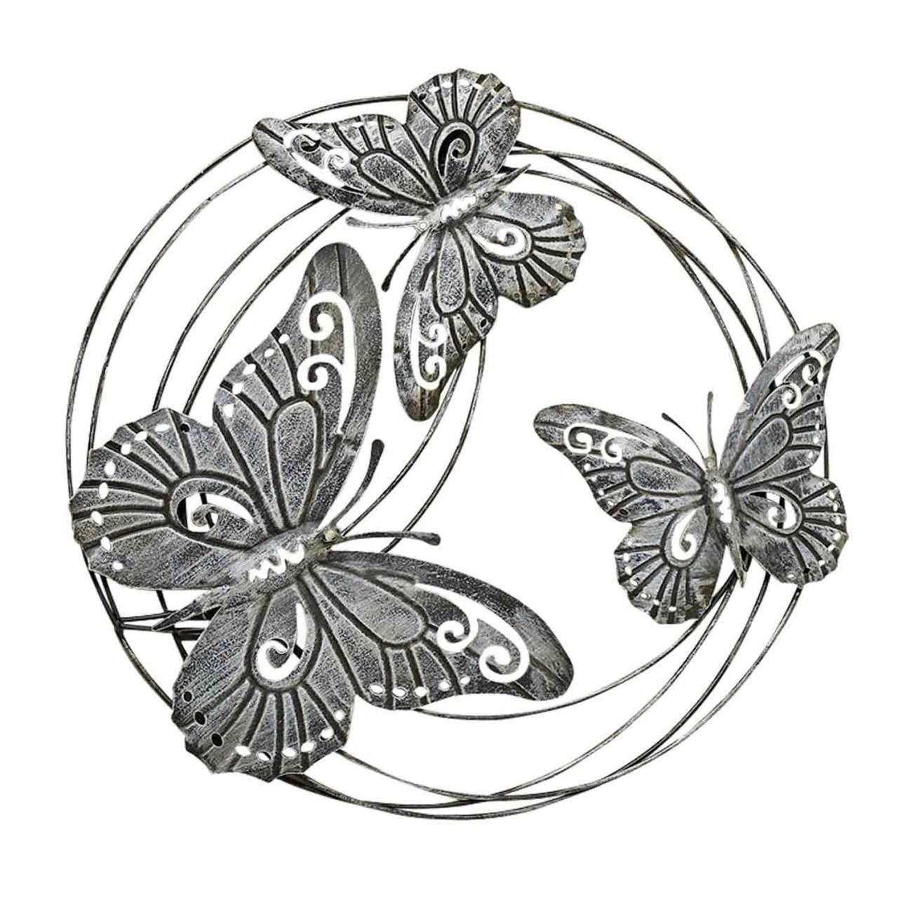 moebel-jack.de Wand-Deko, Schmetterling FELICITY, H 58 cm, Grau, Eisen, Schmetterling