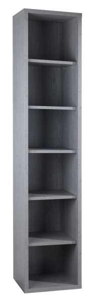 Regal, Bücherregal DELA 11, grau, mit 5 Regalböden, 44x217x36 cm