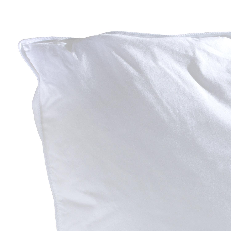 Kopfkissen MERIDA 1, silberweiße Pyrenäen/Federn, 80x80 cm