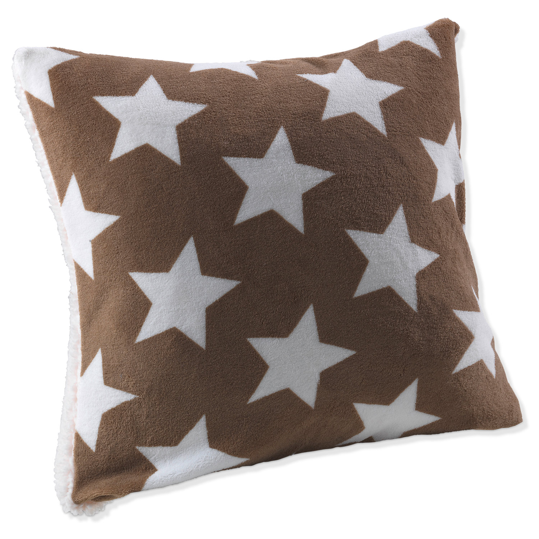 Kissenhülle SHEILY 11, Taupe mit Sternen, 50x50 cm