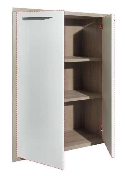 Türenset, Hochglanz Weiß, 75x105 cm